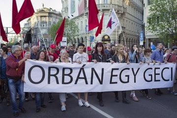 Demonstration der Opposition in Budapest