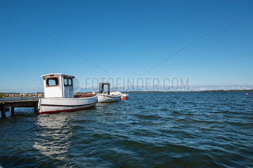 Lammershagen  Deutschland  Fischerboote am Selenter See in Bellin