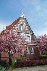 Traditioneller Fachwerkhof im Alten Land