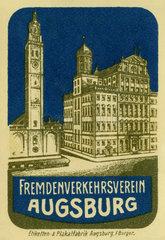 Fremdenverkehrsverein Augsburg  Werbung  1912
