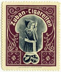 Zuban-Cigeretten  Werbemarke  1913
