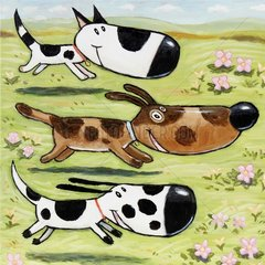 Drei Hunde laufen 2