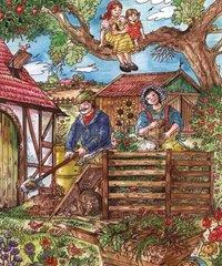Auf dem Lande Kompostierung