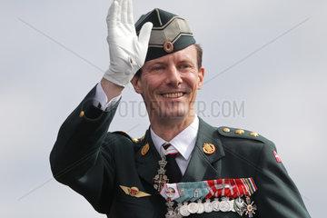 Dueppel  Daenemark  Feierlichkeiten anlaesslich des 150-jaehrigen Jubilaeums der Schlacht an den Dueppeler Schanzen