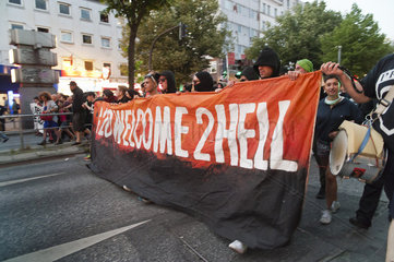 G20-Gipfel: Demonstration Welcome to hell