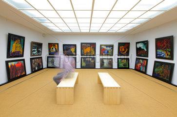 Neukirchen  Deutschland  Stiftung Seebuell Ada und Emil Nolde - Ausstellung im Bildersaal des Nolde-Museums