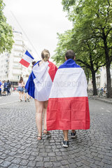 FRANCE - PARIS - FRENCH FANS IN THE FINAL F2018 FOOTBALL WORLD CUP