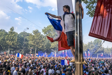 FRANCE- PARIS - FRENCH FANS 2018 FIFA FOOTBALL WORLD CUP