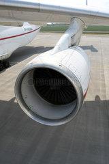 Leipzig  Deutschland  Turbine am Fluegel einer Antonov 225