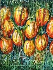 Gelbe Tulpen im Bund
