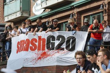 Welcome to Hell Demo gegen den G20 Gipfel