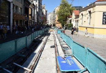 TURKEY-ISTANBUL-ISTIKLAL AVENUE-RECONSTRUCTION
