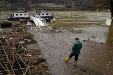 Bad Schandau  Deutschland  Hochwasser in Bad Schandau