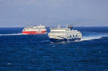 Faehren  Seajets  Fast Ferries  Rafina  Griechenland  Europa