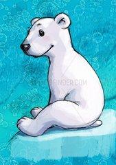 Eisbaerchen sitzt