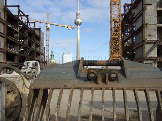 Berlin  Deutschland  Abriss des Palasts der republik