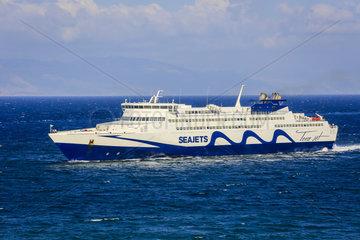 Faehre  Seajets  Rafina  Griechenland  Europa