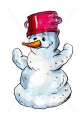 Schneemann mit Hut