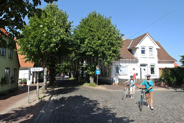 Arnis  Deutschland  die Lange Strasse in Arnis