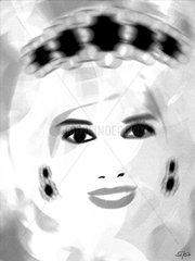 Diana Prinzessin von Wales  Graustufen
