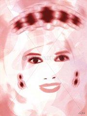 Diana Prinzessin von Wales  rosa