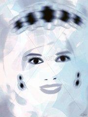 Diana Prinzessin von Wales  blau