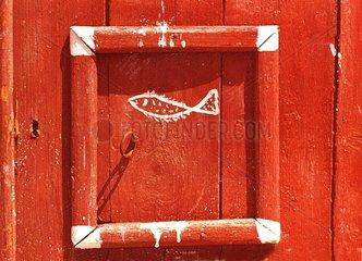 Fischertuer Griechenland rot