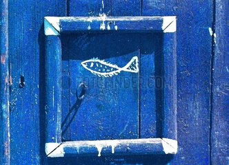 Fischertuer Griechenland blau