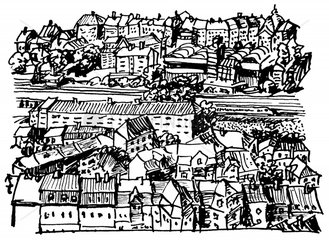 Frankfurt alte Stadtansicht