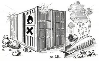 Crashsicherer Container