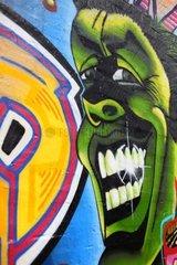 Ein Grafitti an der Rummelsburger Bucht in Berlin Lichtenberg