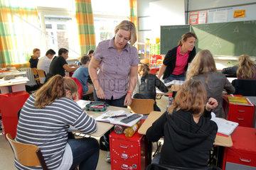 Schleswig  Deutschland  gemeinsamer Unterricht von behinderten und nicht behinderten Kindern