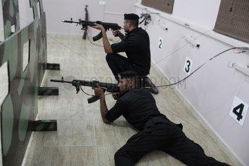 MIDEAST-GAZA-SHOOTING SESSION