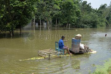 BANGLADESH-SIRAJGANJ-FLOODS