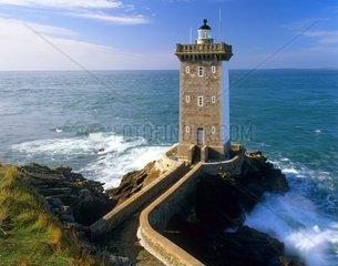 Leuchtturm  Le Phare Kermovan  Frankreich