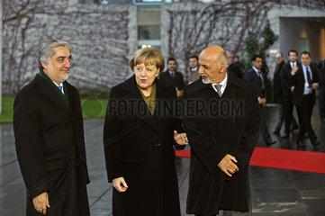 Abdullah + Ghani + Merkel