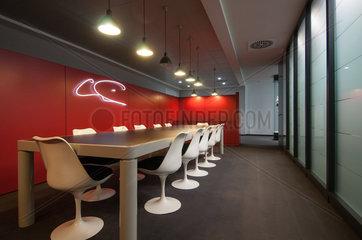Hamburg  Deutschland  Besprechnungsraum des Architekten Hinrich Friedrichsen