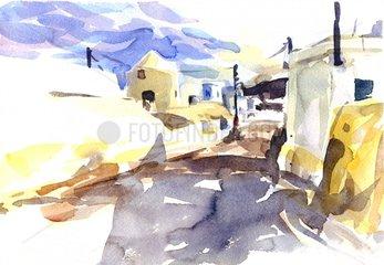 Griechenland Insel Santorini Serie