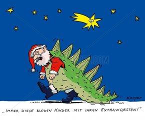 Weihnachtsmann verkleidet