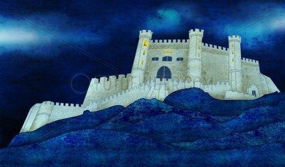 Mittelalterliche Burg Festung Kastell Medieval Castle Fortress