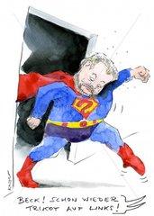 Kurt Beck Superman verkehrt