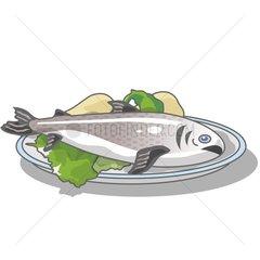 Fischteller Serie Food