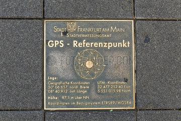 GPS-Referenzpunkt Frankfurt