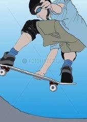 Skateboarder Boarder Sprung Extremsport Extreme Sports Jump