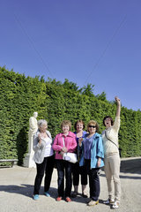 FRANCE - TOURIST IN VERSAILLES CASTLE