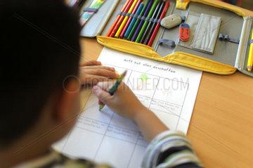 Flensburg  Deutschland  die Grundschule Ramsharde Flensburg bietet Islam-Unterricht an