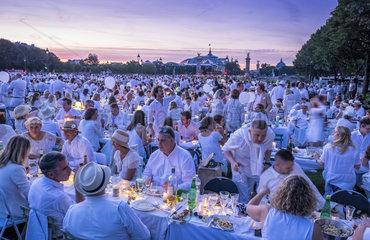 FRANCE - PARIS - INVALIDES - DINNER IN WHITE