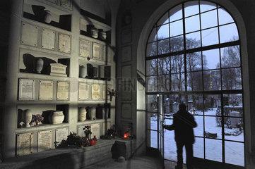 Urnenhalle auf dem Muenchener Nordfriedhof