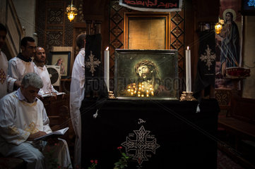 EGYPT-CAIRO-COPT-HOLY WEEK-MASS