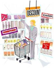 Supermarkt Discount Angebot Aktien Schlussverkauf Schnaeppchen